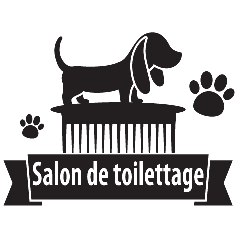 Achat Sticker toilettage canin : 14