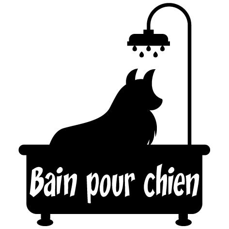 Sticker bain pour chien : 15