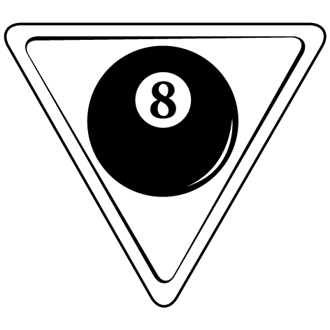 Sticker triangle de billard