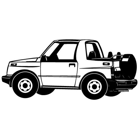 Achat Sticker voiture 4x4 : STV021