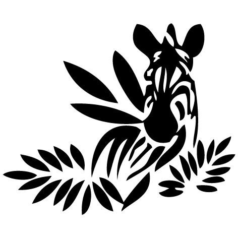 Sticker zèbre zen
