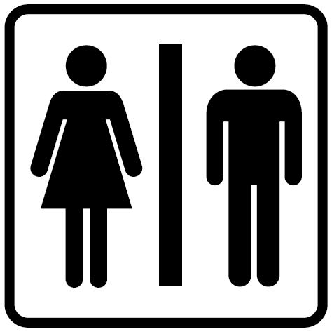 Sticker WC Hommes-femmes