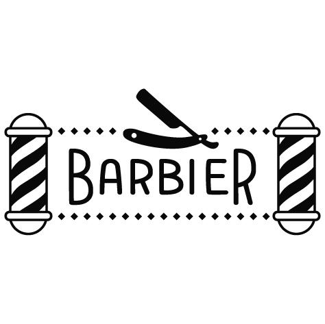 Sticker barber shop pole