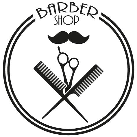 Sticker moustache ciseaux