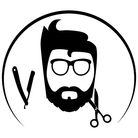 Sticker barbier lunettes