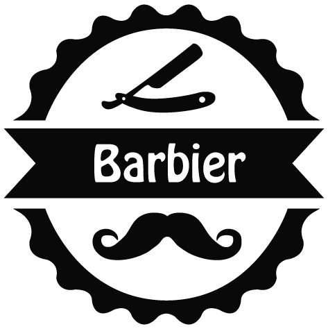 Sticker barbier rasoir