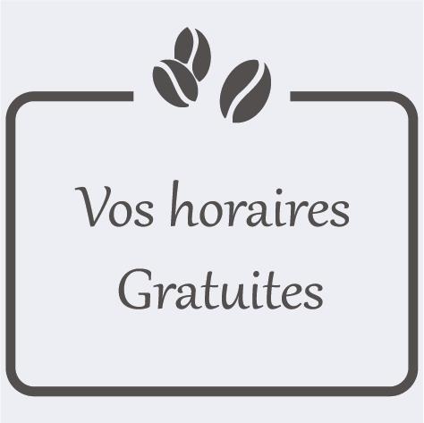 Sticker cadre horaires Bar et Brasserie