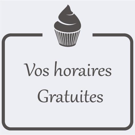 Sticker cadre horaires boulangerie