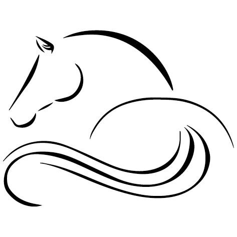 Sticker autocollant cheval esquisse