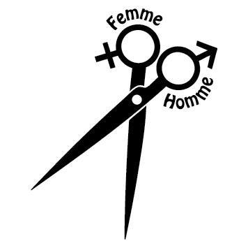 Sticker coiffure ciseaux