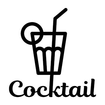 Sticker cocktail ananas
