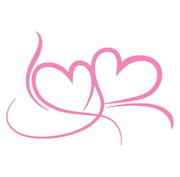 Sticker coeurs love design