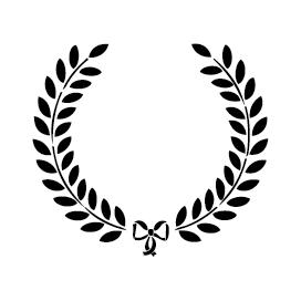 Sticker couronne de laurier FLE01