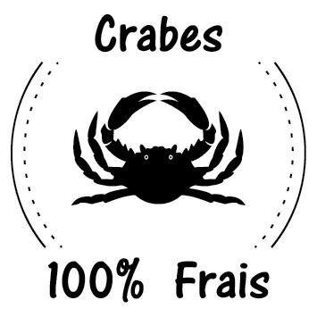 Sticker crabe frais