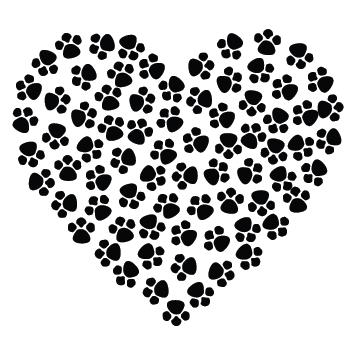 Sticker déco empreinte coeur