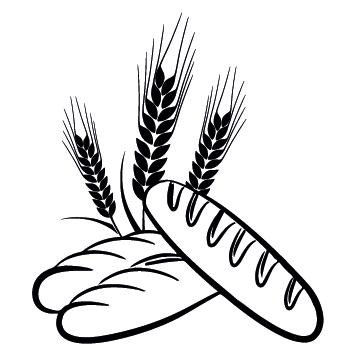 Sticker baguettes épis de blé