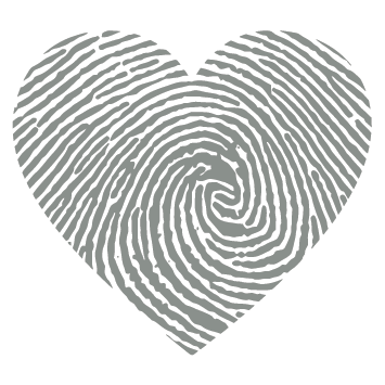 Sticker empreinte coeur