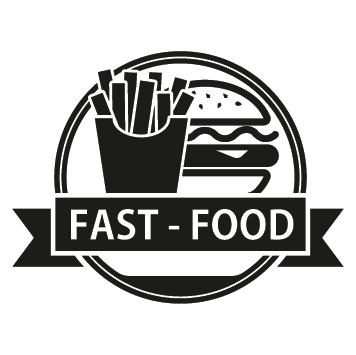 Sticker fast food