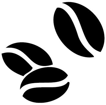 Sticker 3 grains de café