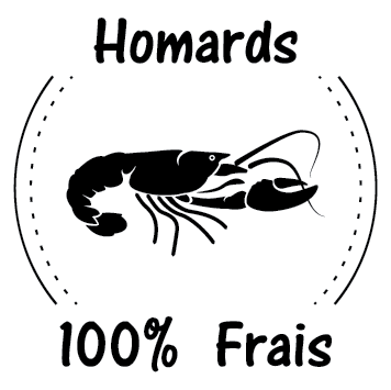 Sticker homard frais