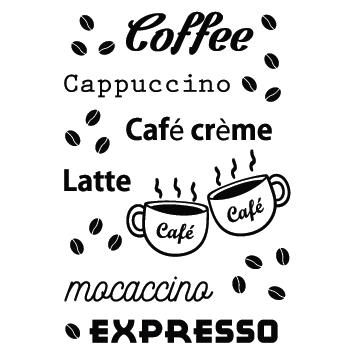 Sticker déco de lettres café