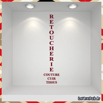 Sticker lettre retoucherie RET06
