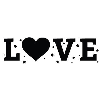Sticker love avec coeur