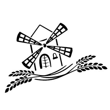 Moulin à vent épis de blé