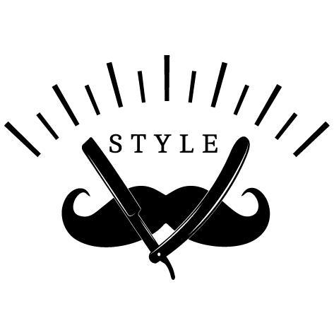 Sticker moustache style