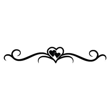 Sticker ornement design coeur