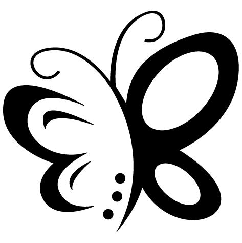 Sticker papillon design
