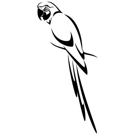 Sticker perroquet tropical