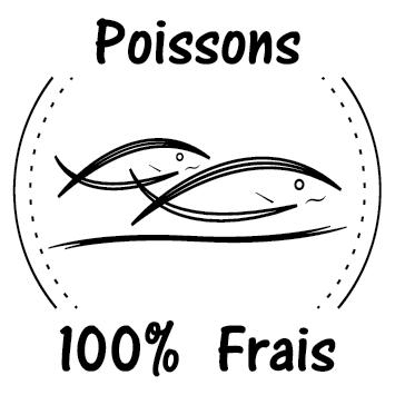 Sticker poissons frais
