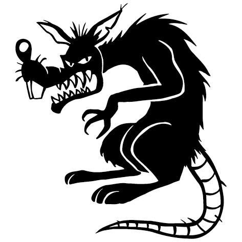 Sticker rat d'égout