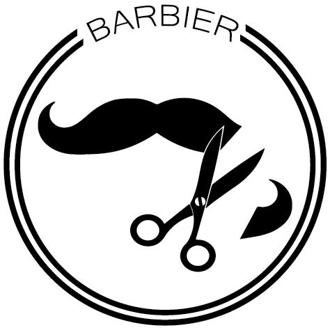 Sticker rond barbier