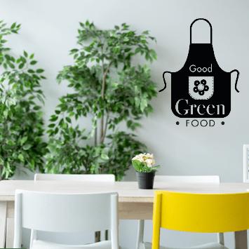 Sticker tablier green food