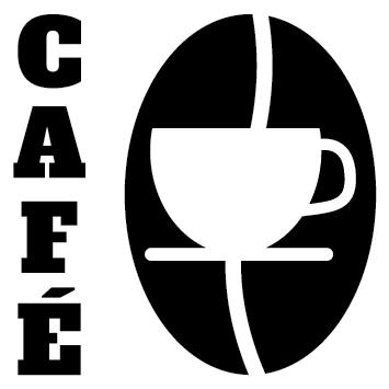 Sticker tasse grains de café