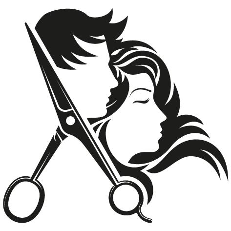 Sticker têtes design ciseaux