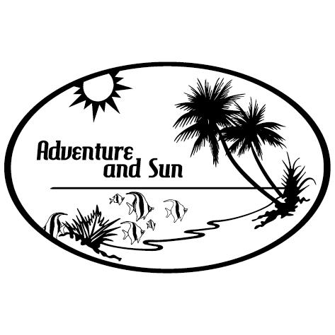 Sticker Adventure and sun model Gauche