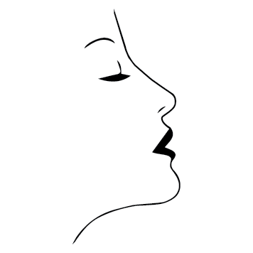 Sticker visage de femme ESTH04