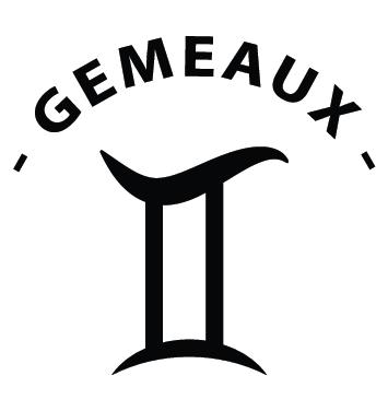 Sticker zodiaque gémeaux AST12