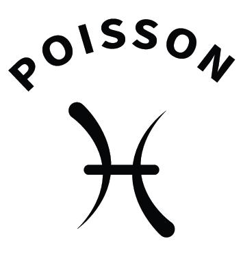 Sticker zodiaque poisson AST14