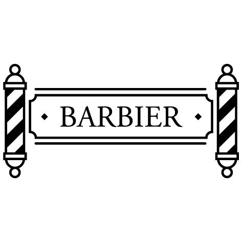 Sticker barbier shop pole