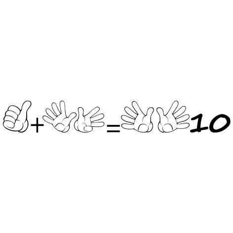Sticker apprendre à compter 10