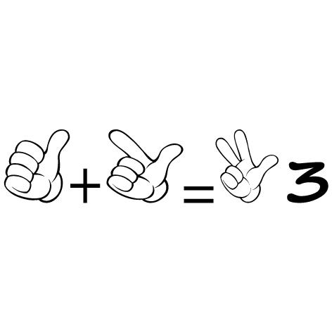 Achat Sticker apprendre à compter 3