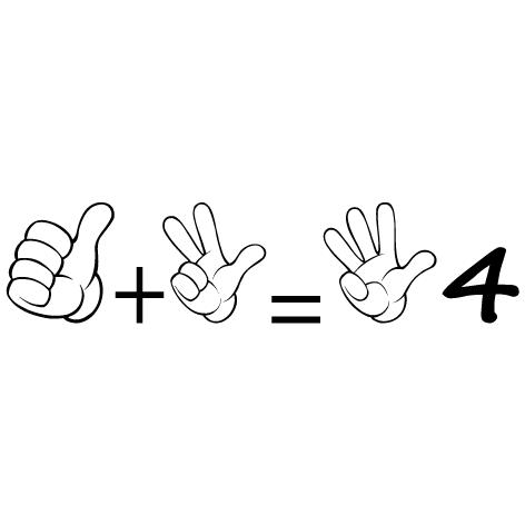 Sticker apprendre à compter 4