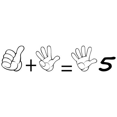 Achat Sticker apprendre à compter 5
