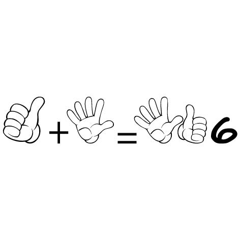 Sticker apprendre à compter 6