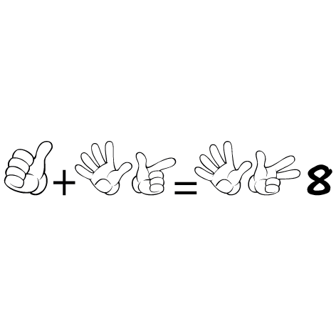Sticker apprendre à compter 8