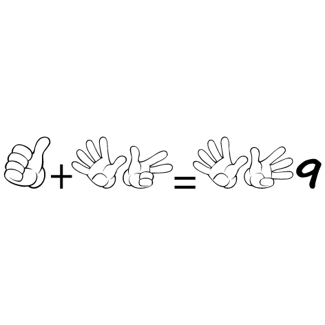 Sticker apprendre à compter 9